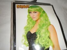 Long Green Hair Curls Wig Spirit Halloween Shop Cosplay Costume St Patrick's