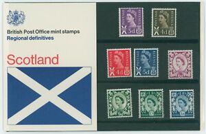 G.B. BRITISH POST OFFICE MINT STAMPS PACK SCOTLAND REGIONAL DEFINITIVES 1970