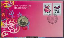 2011 Lunar Year of the Rabbit Postal Numismatic Cover