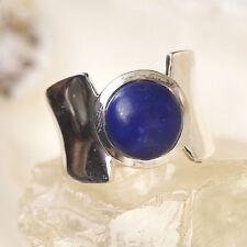 Massiv Silberring 57 Lapis Lazuli Blau Gold Pyrit Elegant Schlicht Silber Ring