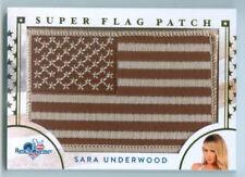 "SARA UNDERWOOD ""SUPER FLAG CARD"" BENCHWARMER AMERICA THE BEAUTIFUL"