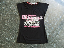 US Marshall T-shirt fille noire taille 12 ans