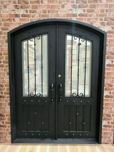 Wrought Iron - Single or Double Front Doors - The Gordon