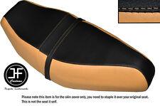 CREAM & BLACK VINYL CUSTOM FITS HONDA SPACEY CH 125 1984 DUAL SEAT COVER ONLY