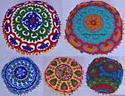 "16"" Vintage Pillow Shams Indian Round Suzani Hand Embroidered Cushion Cover Boho"