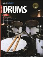 Rockschool Drums Grade 4 2012-2018 Exam Sheet Music Book with Online Audio