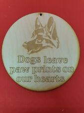 German Shepherd Dog Memorial Plaque on 3mm Ply Wood Embellishment