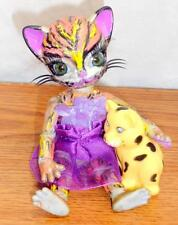 "OOAK 1/12 Tiny BJD Mitzy Kitty 5"" Doll Hujoo Nano Freya ABS Cat Anthro+EXTRAS"
