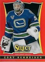 2013-14 Select Prizms Red #110 Cory Schneider /35 - NM-MT