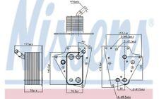 NISSENS Radiador de aceite motor 90802