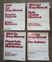 1984 FORD CAR SHOP MANUALS (4) LINCOLN TOWN CAR FORD CROWN VIC MERCURY MARQUIS