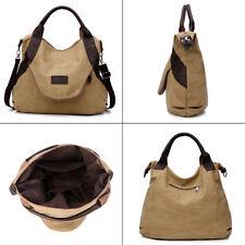 Large Women Canvas Handbag Messenger Shoulder Bag Tote Purse Travel Satchel URYT