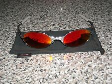 ***OAKLEY E WIRE 90'S 1ST GEN POLISHED SILVER SUNGLASSES/ MADE IN USA***