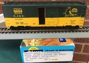 ATHEARN BEV-BEL HO  ELGIN JOLIET & EASTERN  EL&E 60427 40' Boxcar MAP HERALD