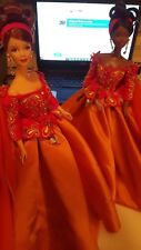 Symphony in Chiffon Collector Barbie 1997 Caucasian/African American Couture Set