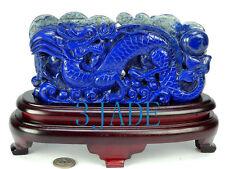 Natural Lapis Lazuli Dragon Statue / Sculpture / Chinese Crystal Carving