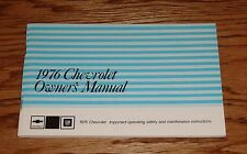 1976 Chevrolet Chevy Full Size Car Owners Operators Manual 76 Caprice Impala