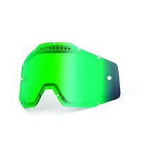 100% Gafas Accuri Strata RACECRAFT Cristal Repuesto de espejo Dual ventilados