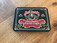 Jack Daniels No. 7 Gentlemen's Playing Cards 2 packs - 1 Opened & Tin