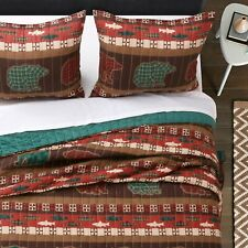 Greenland Home Fashion Canyon Creek Cozy Lodge Style Pillow Sham Multicolor