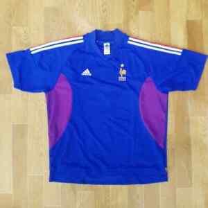 Adidas France 2002 Home National Team Football Soccer Kit Shirt Jersey Size 2XL