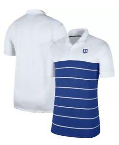 Men's Duke Blue Devils Nike Striped Polo Small NWT $65