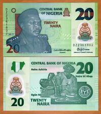 Nigeria, 20 naira, 2017, P-New, POLYMER, UNC > DZ, REPLACEMENT