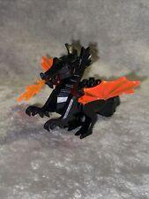 Black Lego Castle/Knight Dragon with Trans Neon Orange Wings