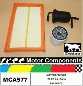 FILTER SERVICE KIT for KIA MENTOR FB22 S11 BF-EE 1.5L Petrol 05/98>06/00
