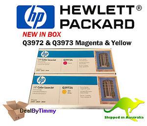 Genuine HP 123A Yellow & Magenta Toner Cartridge (Q3972A & Q3973A) Free Postage