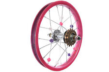 "14""BIKE PINK REAR WHEEL FOR RALEIGH MOLLY 14"" & OTHER 14"" KIDS BIKES"