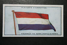 Kingdom of the Serbs, Croats & Slovenes Flag    Original 1920's  Vintage Card