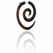 PAIR SONO WOOD FAKE EXPANDER CHEATER 16g SPIRAL PLUGS