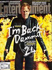 Kiefer Sutherland (April 11th 2014) Entertainment EW Signed NL Magazine Jsa