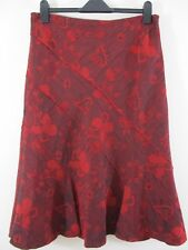 Per Una (M&S) flared panel skirt. Scarlet & Red. Floral. A-line. Any occasion.