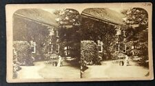 Vintage Stereo-View Stereoscopic Photo: #A82: Grand House Tea In Back Garden