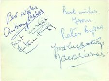 Dixon of Dock Green cast signed autograph album page British TV show Jack Warner