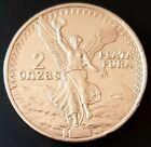 MEXICO Silver Medal 2oz. Plata Pura .999 DOS ONZAS TROY Very Nice!