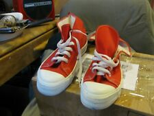 Vintage Kmart Trax Shoes Men's 9 1/2 Red High Tops Sneakers Made In Usa
