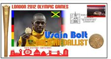 USAIN BOLT 2012 OLYMPIC JAMAICA 100m GOLD MEDAL COVER 4