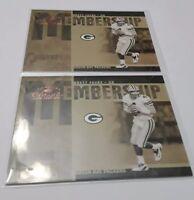 (2) 2005 Donruss Classics Brett Favre Membership Lot Insert Card #MS-3 S# /1000