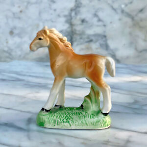 Vintage Porcelain Horse Colt Painted Figurine - Made in Japan