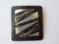 Vintage Jorgen Jensen pewter modernist brooch pin.Handmade 909