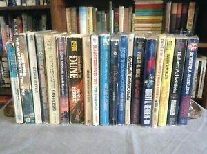 Mixed Sci-Fi Vintage Paperback Lot - Bradbury, Herbert, Heinlein, Dick, and More