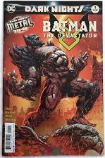BATMAN THE DEVASTATOR #1 Foil Cover (DC Comics, 2018) Dark Nights Metal Tie-In