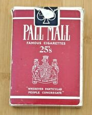 Pall Mall Cigarettes Advertising Playing Cards Complete Euc