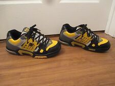 Used Worn Size 11 DC Shoes Aerotech AT-2 Skateboard Shoes Black Yellow Gray