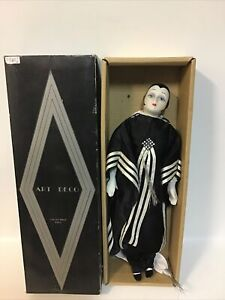 """Hillview Lane Art Deco 19"""" Porcelain Doll - Boxed With Tag Very Good Condition"""