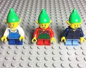 Lego 3 New Elf Christmas Boy / Female Mini Figures Lot