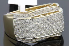 10K YELLOW GOLD 1.14 CARAT MENS REAL DIAMOND ENGAGEMENT WEDDING PINKY RING BAND